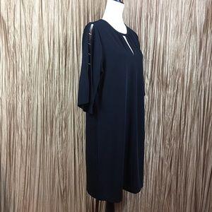Michael Kors Flared Split Sleeve Black Dress Sz L